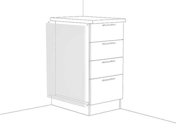 Фасад боковой для нижнего шкафа Фьюжн