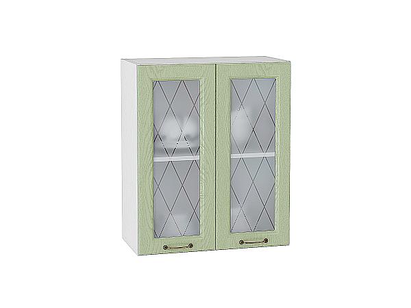 Шкаф верхний с 2-мя остекленными дверцами Ницца 600