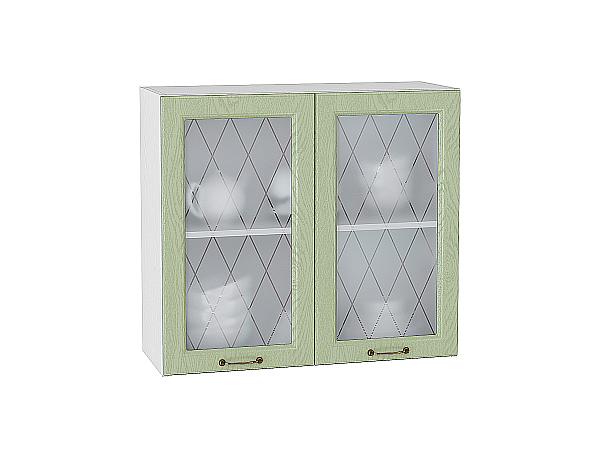Шкаф верхний с 2-мя остекленными дверцами Ницца 800