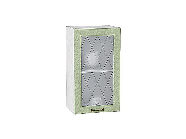Шкаф верхний с 1-ой остекленной дверцей Ницца 400
