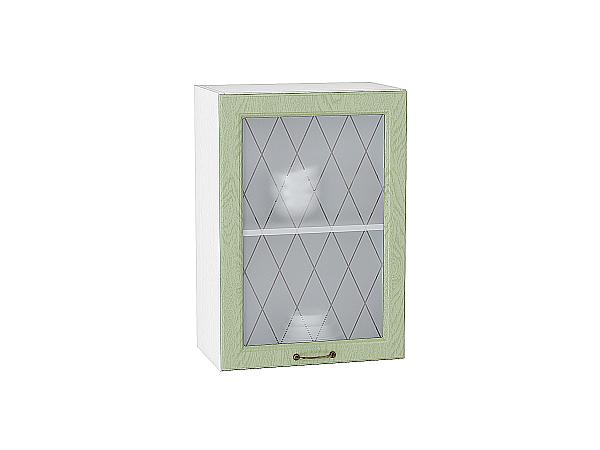 Шкаф верхний с 1-ой остекленной дверцей Ницца 500