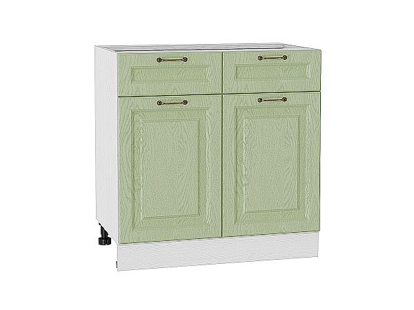Шкаф нижний с 2-мя дверцами и 2-мя ящиками Ницца 800