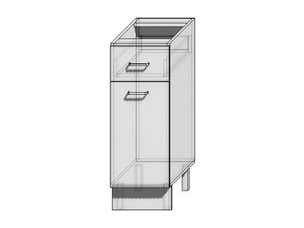 Шкаф нижний с 1-ой дверцей и ящиком Валерия-М 300