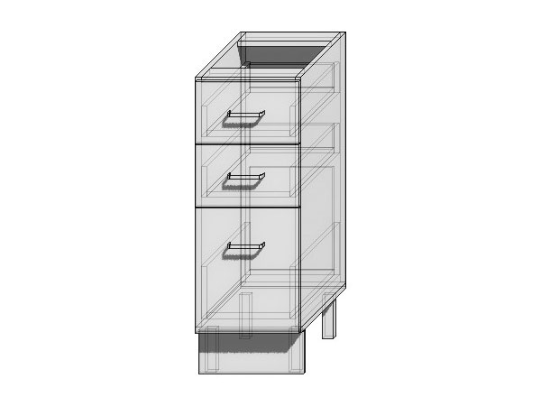 Шкаф нижний с 3-мя ящиками Loft 300