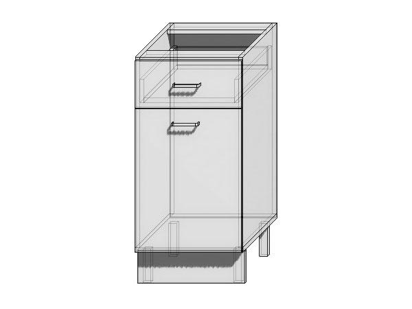 Шкаф нижний с 1-ой дверцей и 1-м ящиком Loft 400