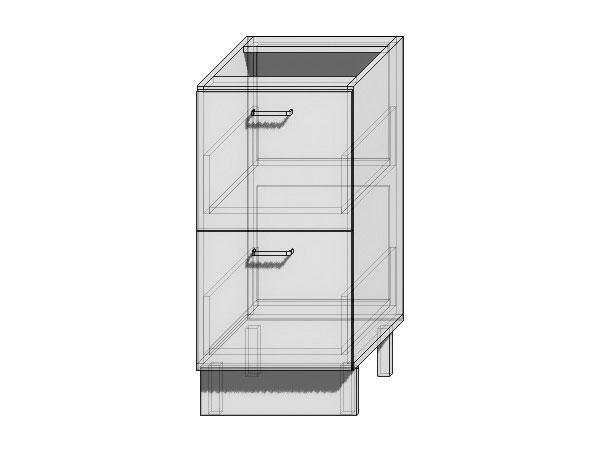 Шкаф нижний с 2-мя ящиками Loft 400