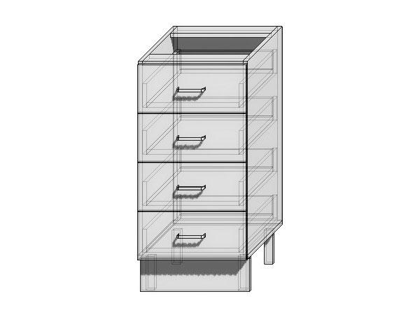Шкаф нижний с 4-мя ящиками Верона 400