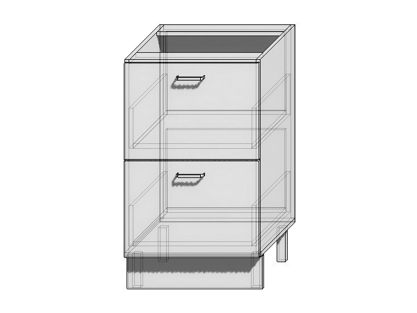 Шкаф нижний с 2-мя ящиками Валерия-М 500