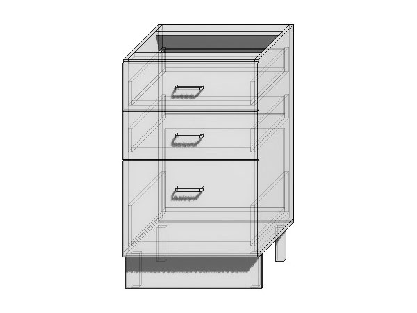 Шкаф нижний с 3-мя ящиками Вита 500