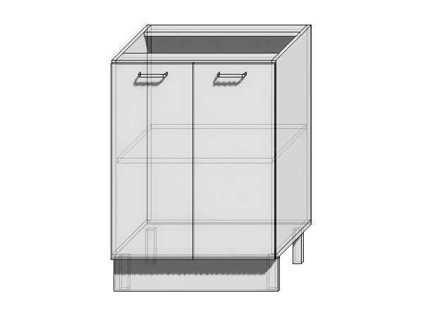 Шкаф нижний с 2-мя дверцами Вита 600