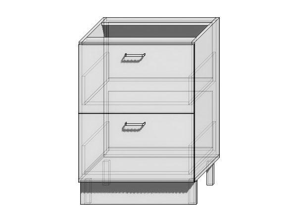 Шкаф нижний с 2-мя ящиками Loft 600