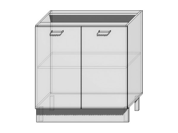 Шкаф нижний с 2-мя дверцами Loft 800