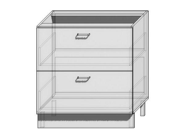 Шкаф нижний с 2-мя ящиками Loft 800