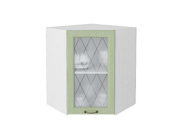 Шкаф верхний угловой остекленный Ницца 920