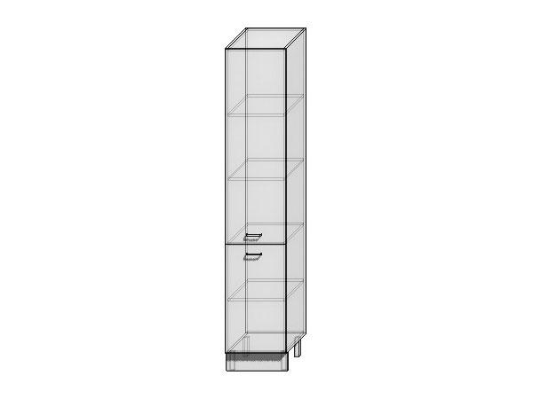 Шкаф пенал с 2-мя дверцами Валерия-М 400Н (для верхних шкафов высотой 920)