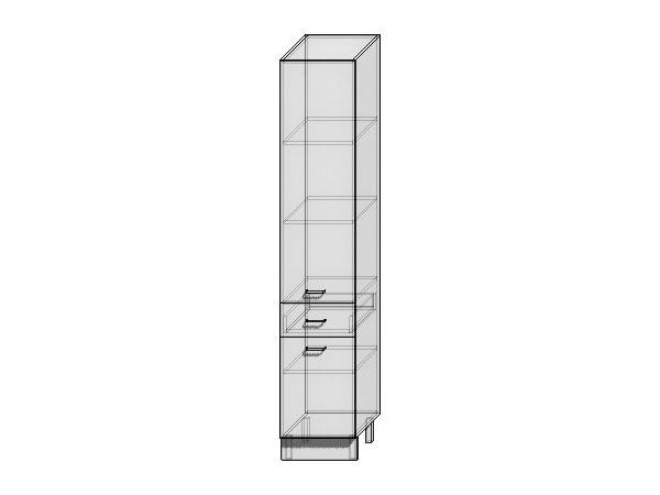 Шкаф пенал с дверцами и 1-м ящиком Валерия-М 400 (для верхних шкафов высотой 720)