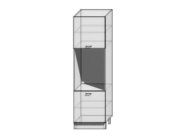 Шкаф пенал под бытовую технику с 2-мя дверцами Валерия-М 600Н (для верхних шкафов высотой 920)