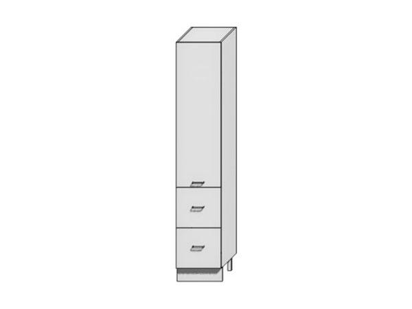 Шкаф пенал с 2-мя ящиками и дверцей Loft 400