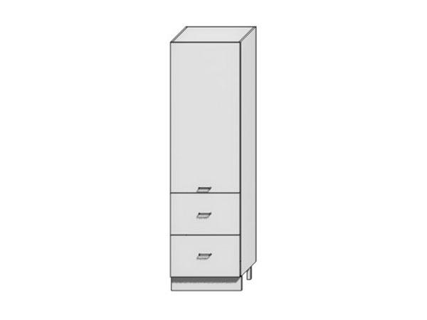 Шкаф пенал под бытовую технику с 2-мя ящиками Loft 400