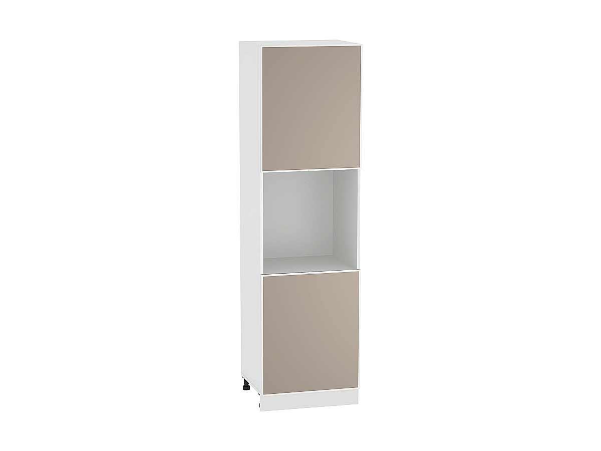 Шкаф пенал под бытовую технику с 2-мя дверцами Фьюжн-AL 600 (для верхних шкафов высотой 720)