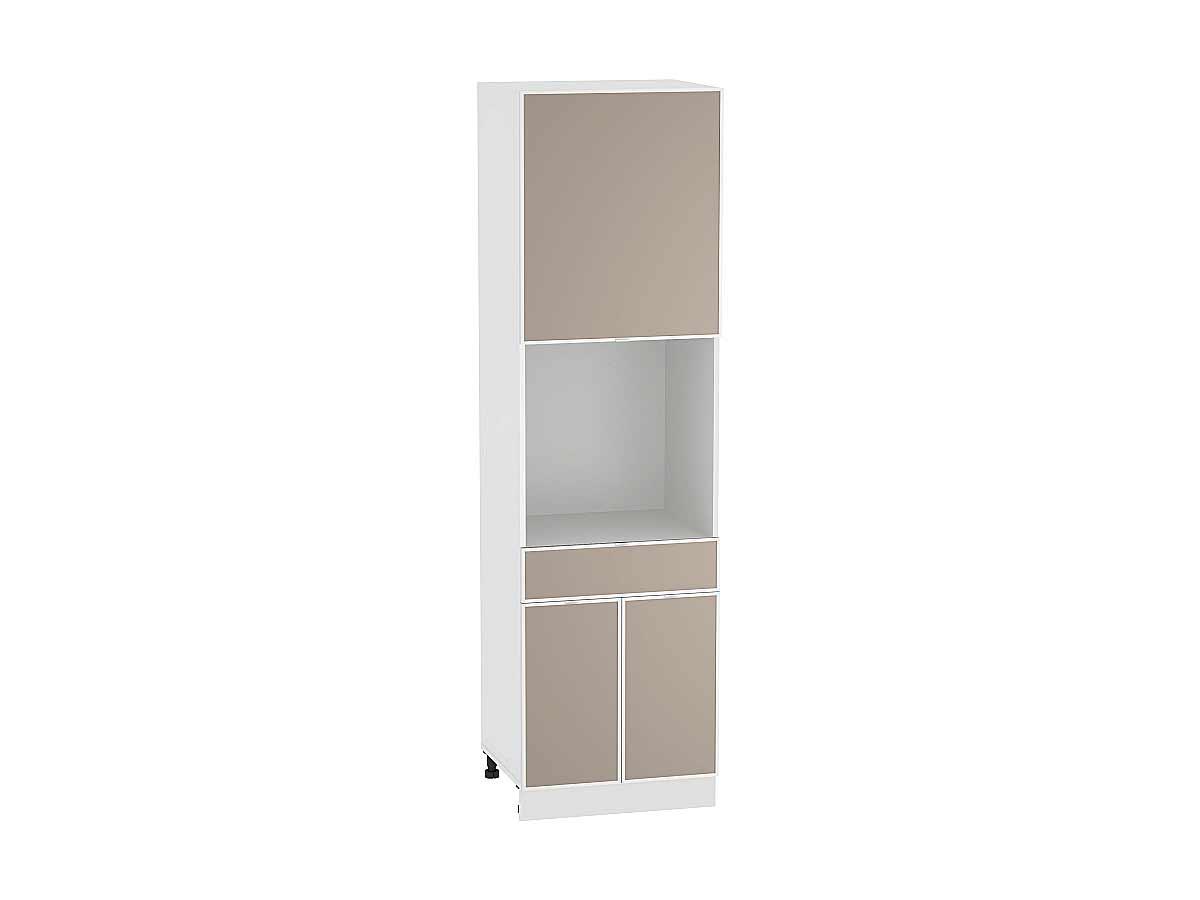 Шкаф пенал под бытовую технику с дверцами и 1-м ящиком Фьюжн-AL 600 (для верхних шкафов высотой 720)