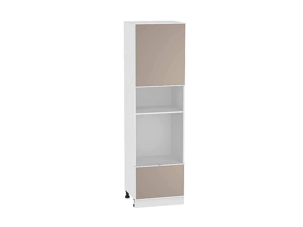 Шкаф пенал под бытовую технику с 2-мя дверцами Фьюжн-AL 606 (для верхних шкафов высотой 720)