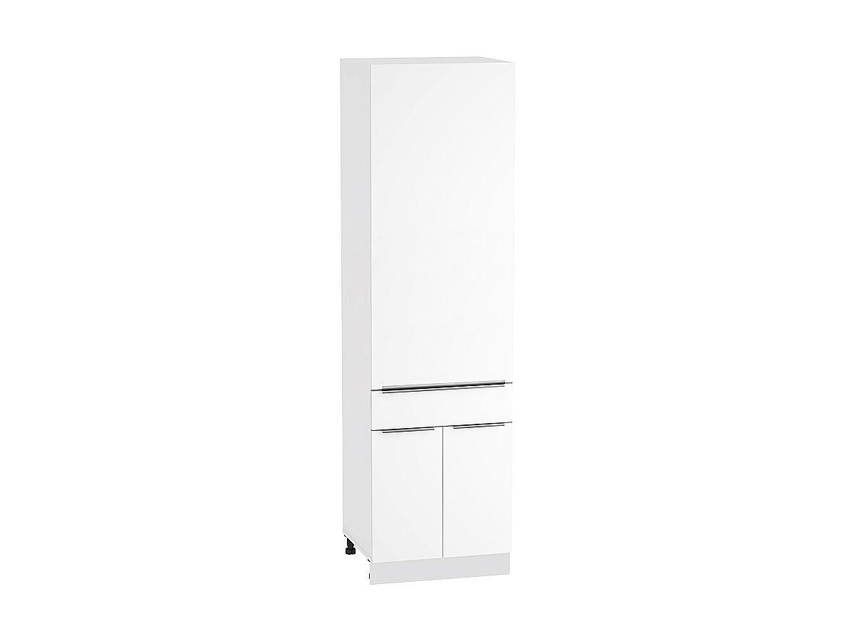 Шкаф пенал с дверцами и 1-м ящиком Фьюжн 600