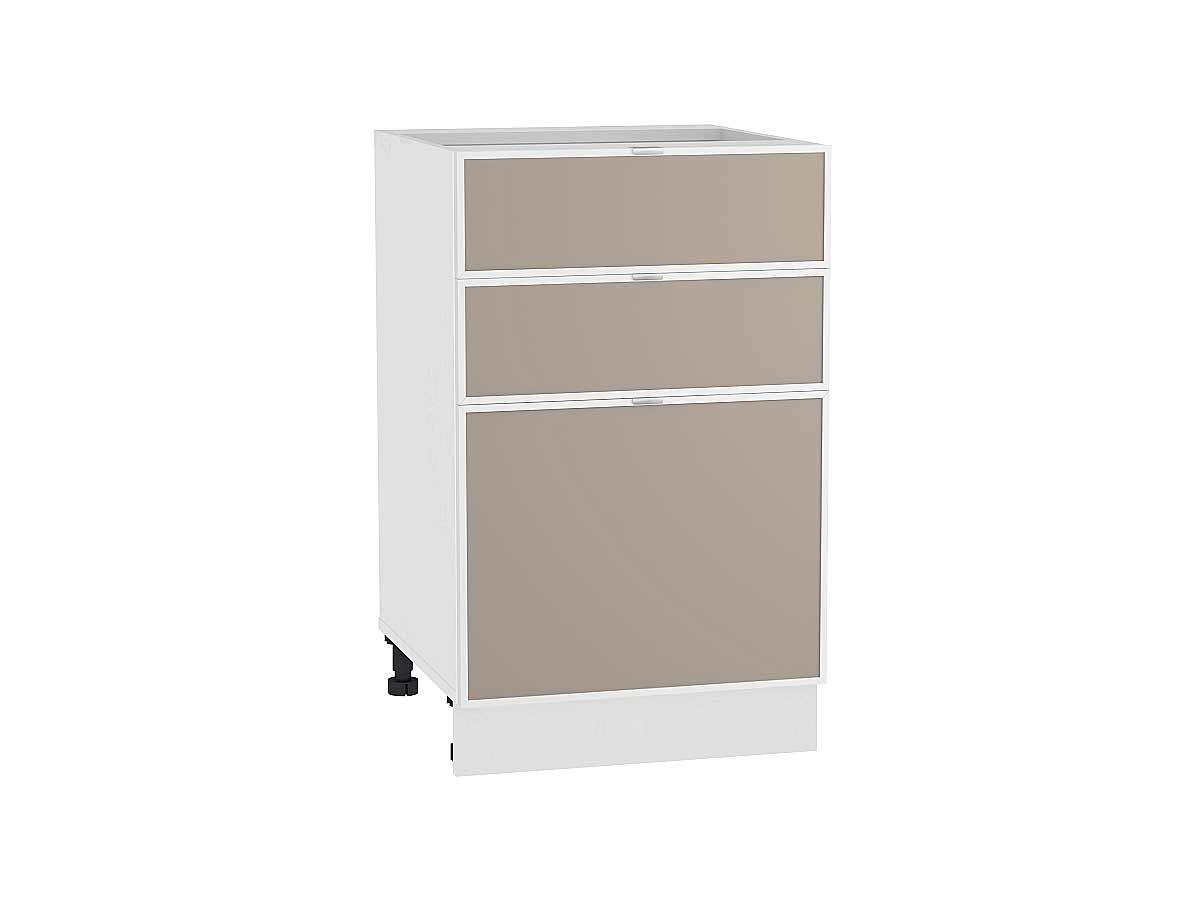 Шкаф нижний с 3-мя ящиками Фьюжн-AL 500