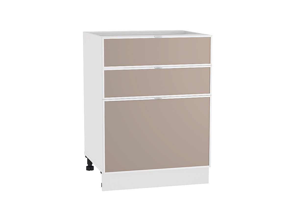 Шкаф нижний с 3-мя ящиками Фьюжн-AL 600