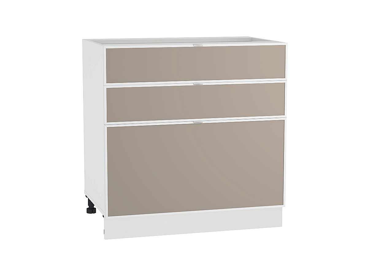 Шкаф нижний с 3-мя ящиками Фьюжн-AL 800