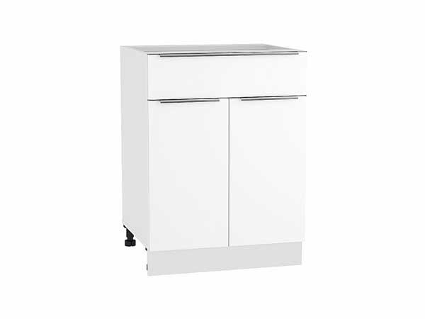Шкаф нижний с 2-мя дверцами и ящиком Фьюжн 600
