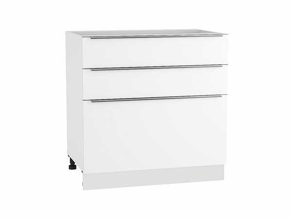Шкаф нижний с 3-мя ящиками Фьюжн 800