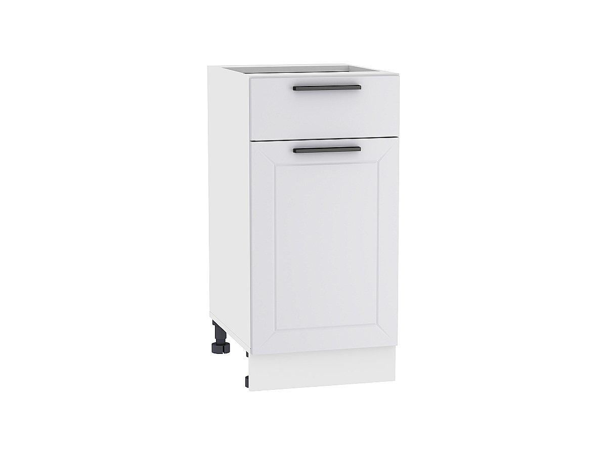 Шкаф нижний с 1-ой дверцей и ящиком Глетчер 400