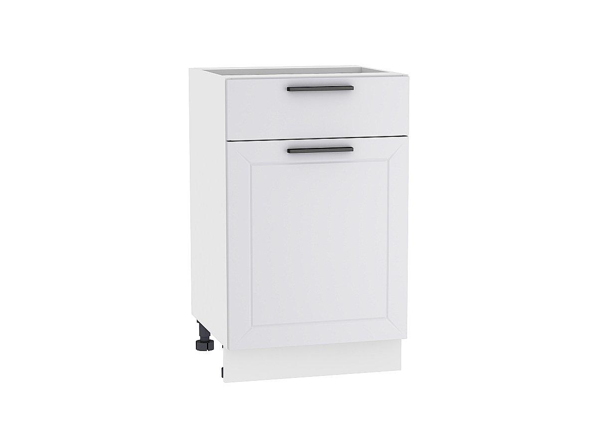 Шкаф нижний с 1-ой дверцей и ящиком Глетчер 500