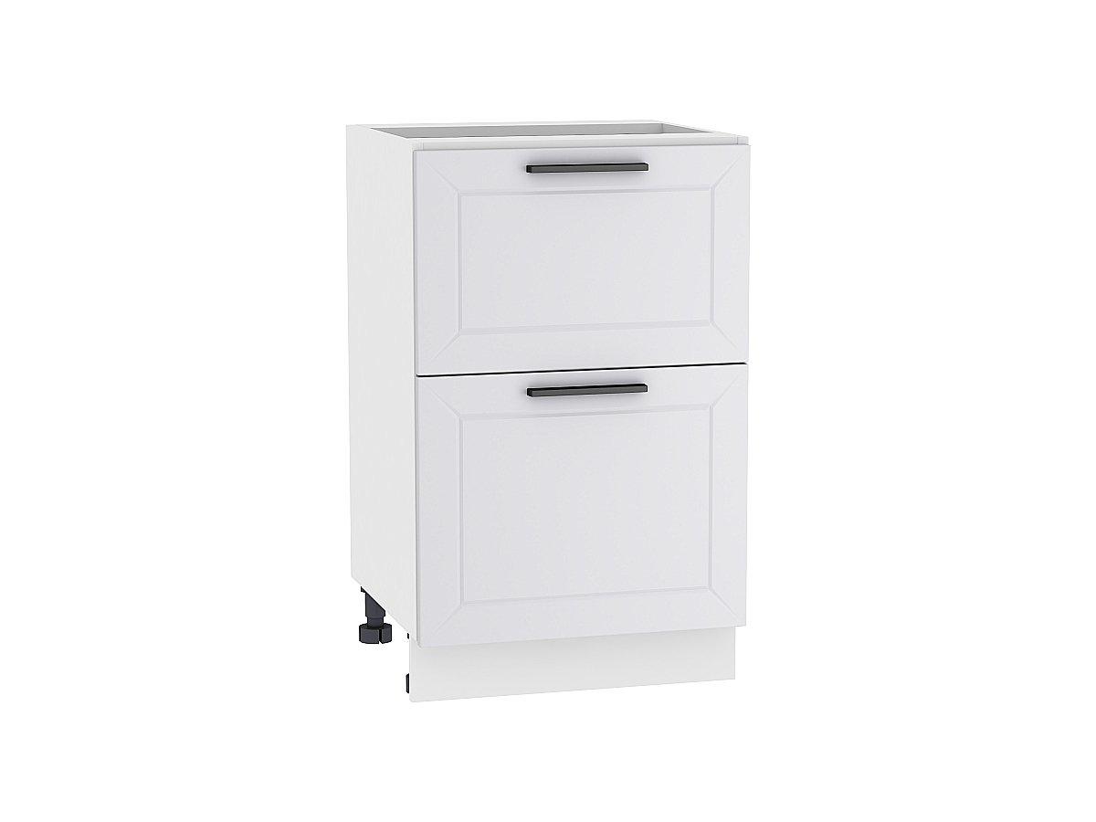 Шкаф нижний с 2-мя ящиками Глетчер 600