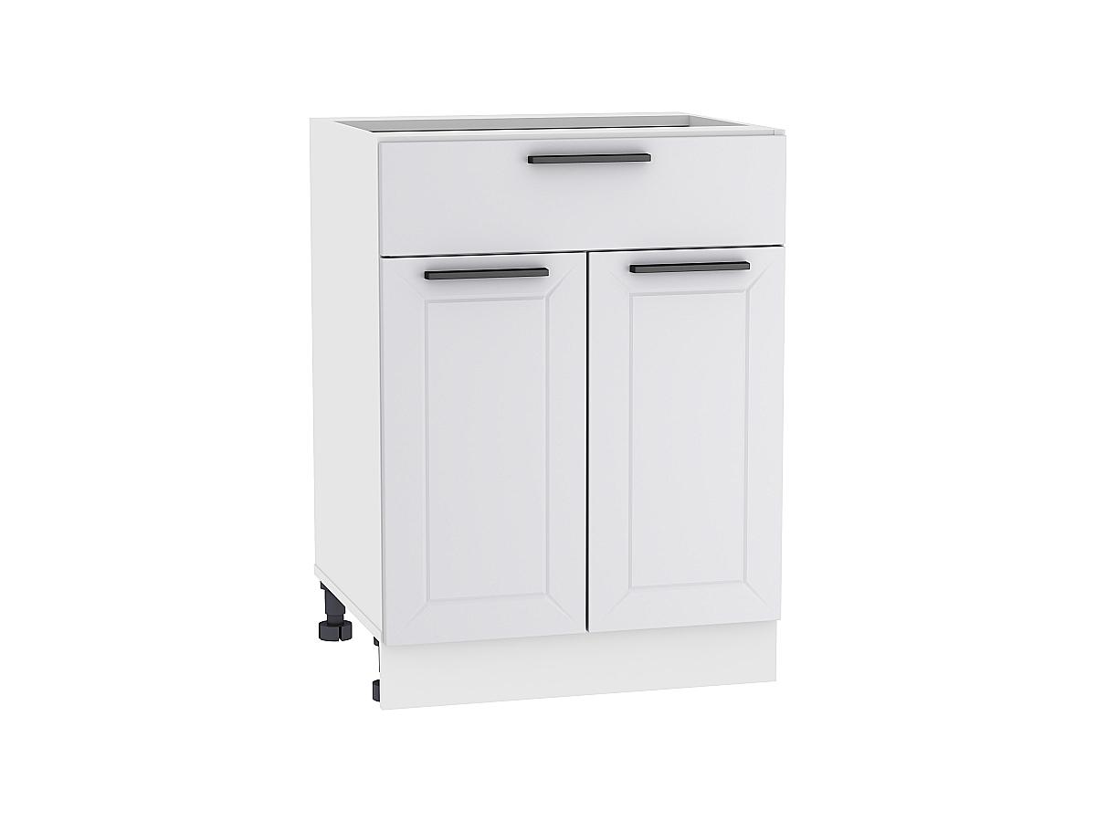 Шкаф нижний с 2-мя дверцами и ящиком Глетчер 600