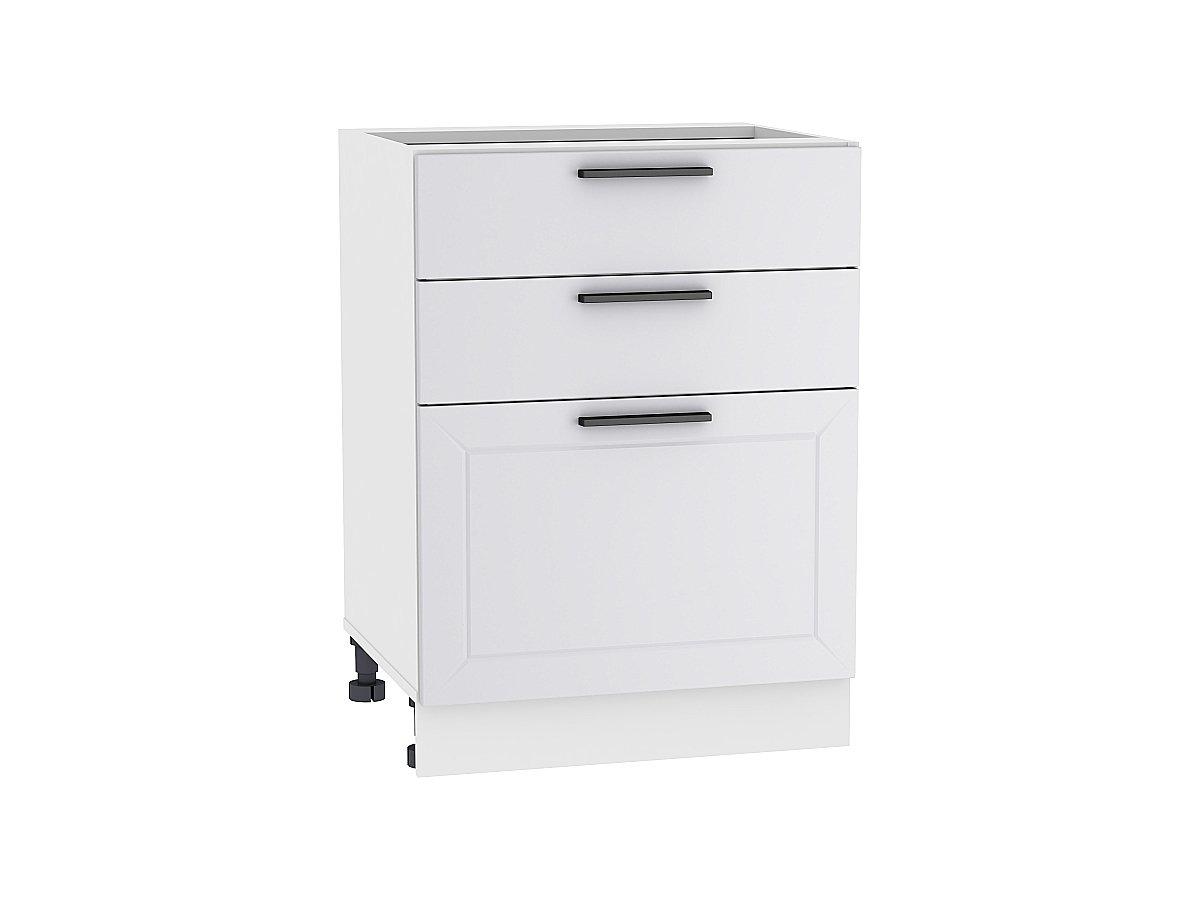 Шкаф нижний с 3-мя ящиками Глетчер 600