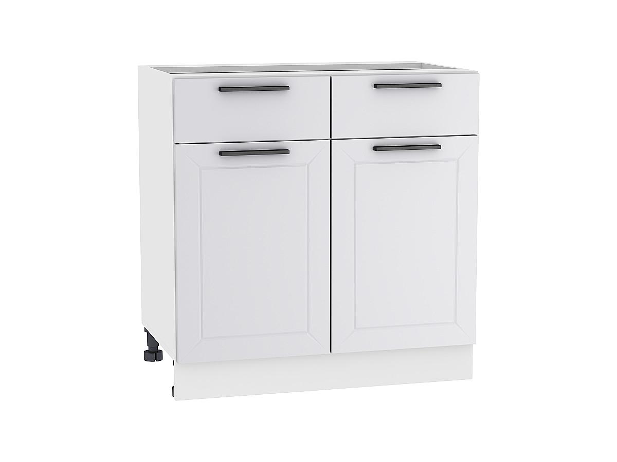 Шкаф нижний с 2-мя дверцами и 2-мя ящиками Глетчер 800