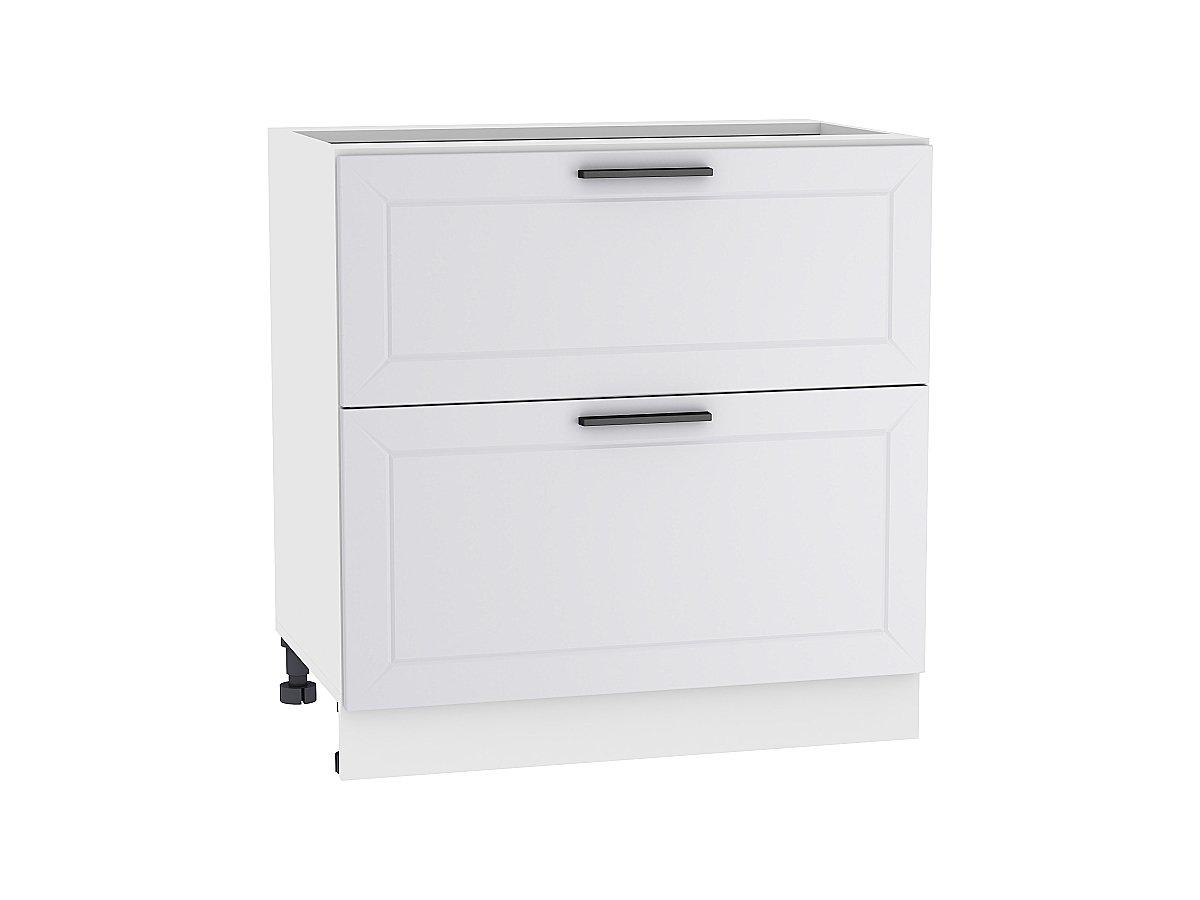 Шкаф нижний с 2-мя ящиками Глетчер 800