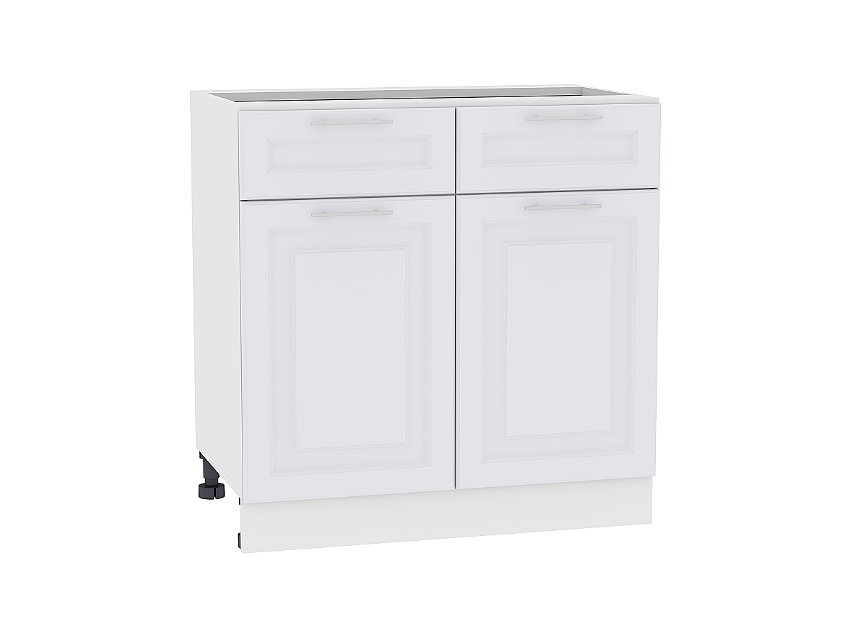 Шкаф нижний с 2-мя дверцами и 2-мя ящиками Ницца Royal 800