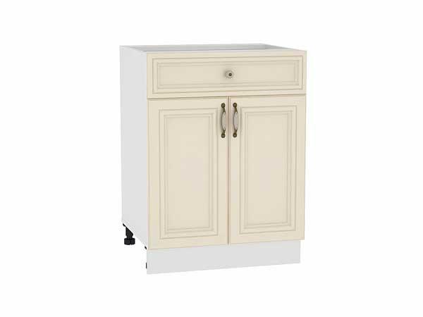 Шкаф нижний с 2-мя дверцами и ящиком Шале 600