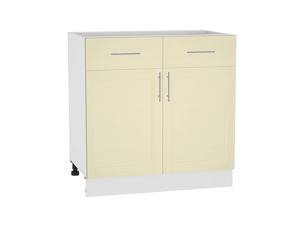 Шкаф нижний с 2-мя дверцами и 2-мя ящиками Сканди