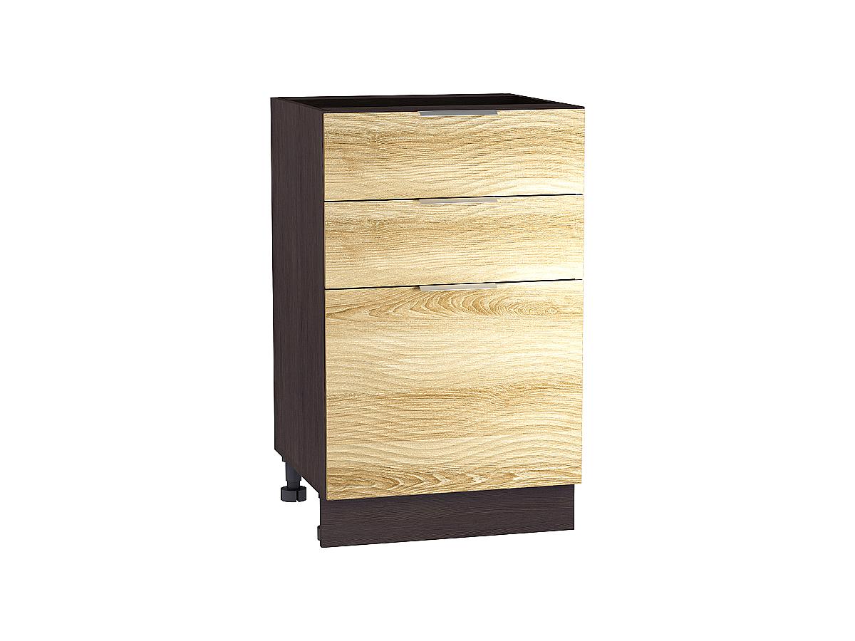 Шкаф нижний с 3-мя ящиками Терра W 600 ВОЛНА