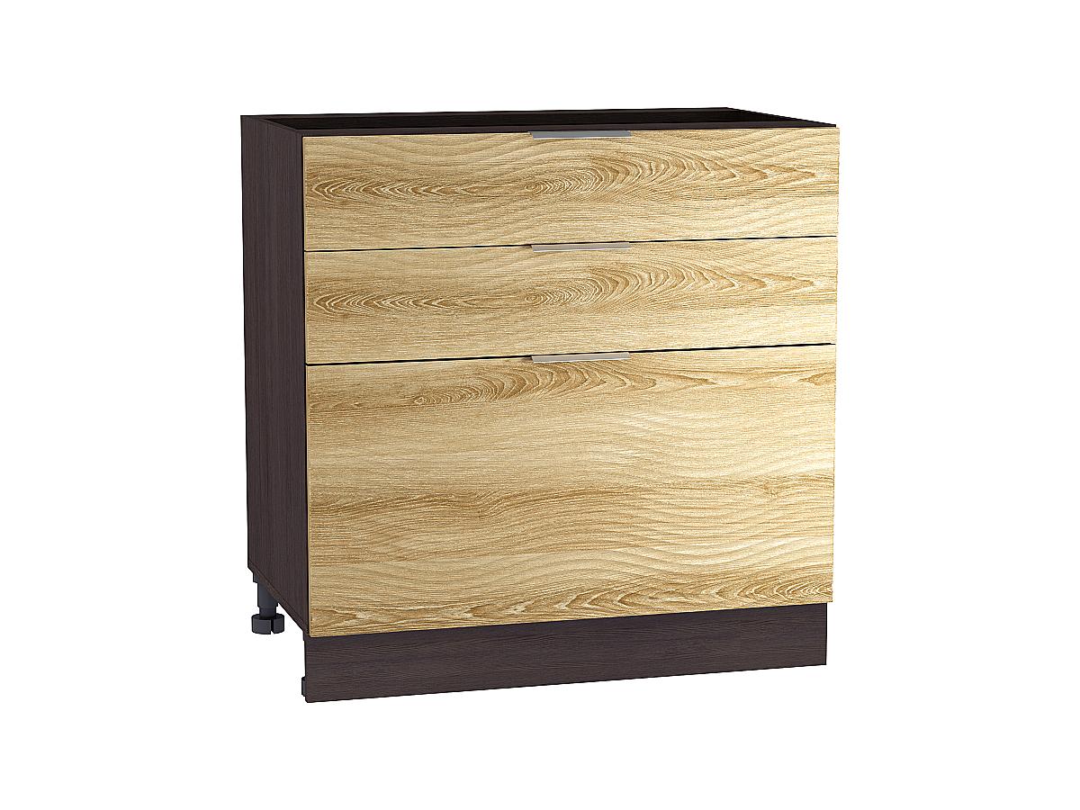 Шкаф нижний с 3-мя ящиками Терра W 800 ВОЛНА