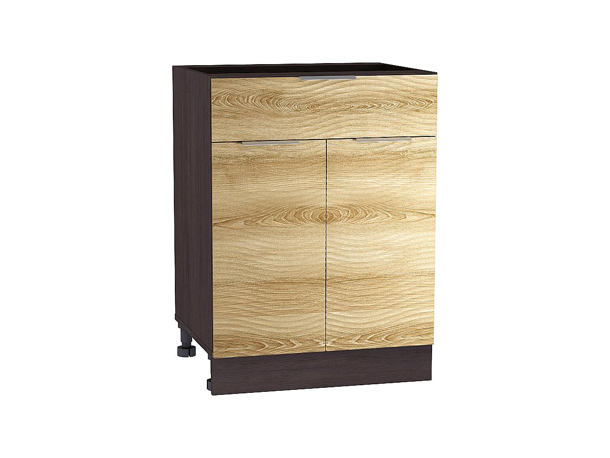 Шкаф нижний с 2-мя дверцами и ящиком Терра W 600 ВОЛНА