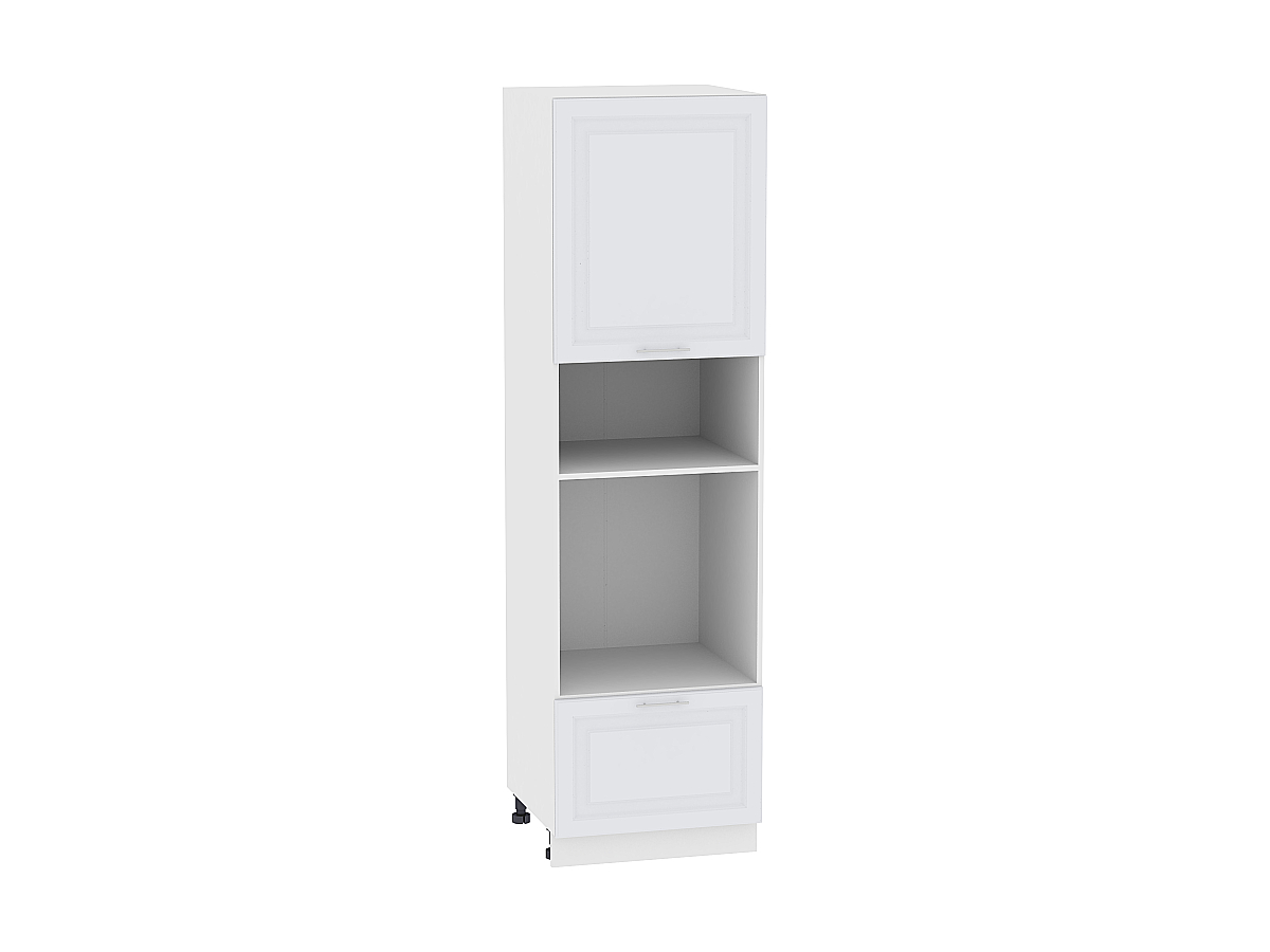 Шкаф пенал под бытовую технику с 1-ой дверцей и ящиком Ницца Royal 606 (для верхних шкафов высотой 720)