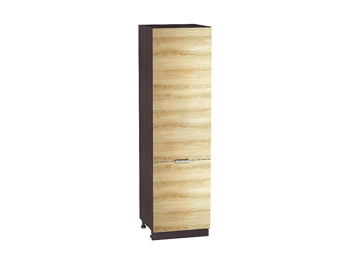 Шкаф пенал с 2-мя дверцами Терра 600 W (для верхних шкафов высотой 720) ВОЛНА