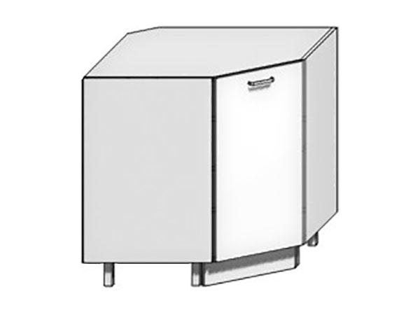 Шкаф нижний угловой (трапеция)