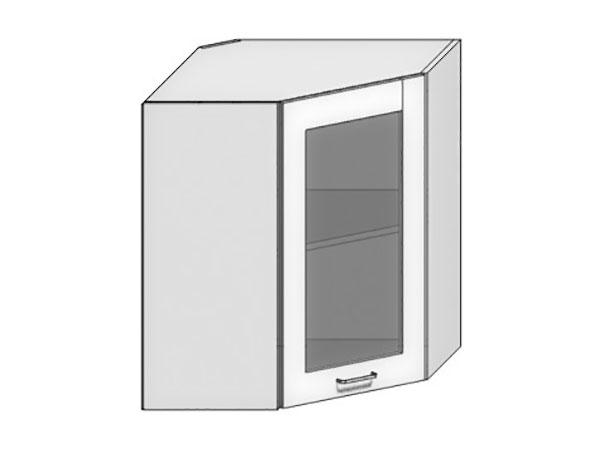 Шкаф верхний угловой со стеклом Loft 550