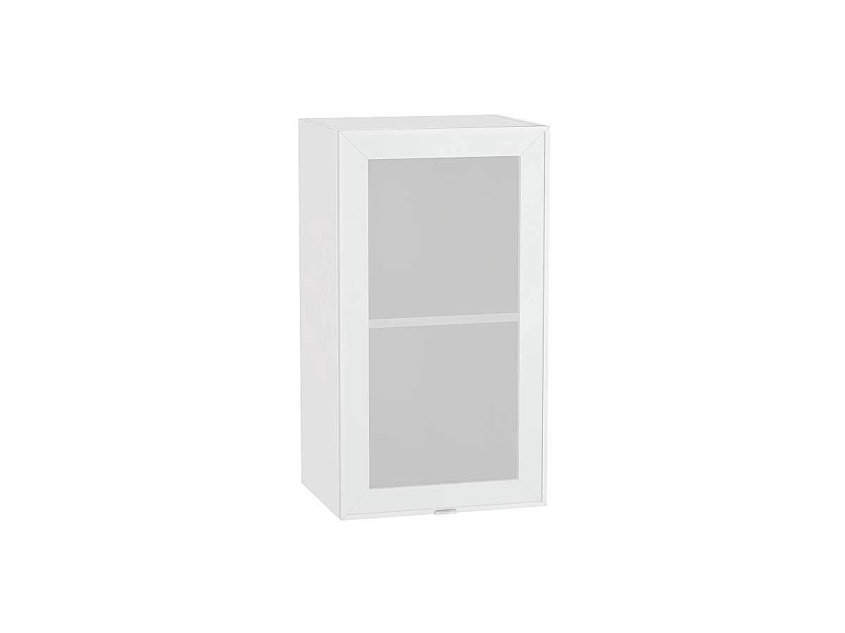 Шкаф верхний с 1-ой остекленной дверцей Фьюжн-AL 400